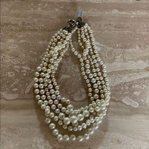 NWT J CREW TWISTED PEARL NECKLACE $88